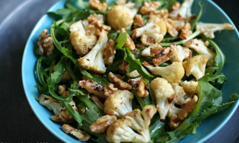 Recipe: Arugula, Walnut, Cauliflower salad.